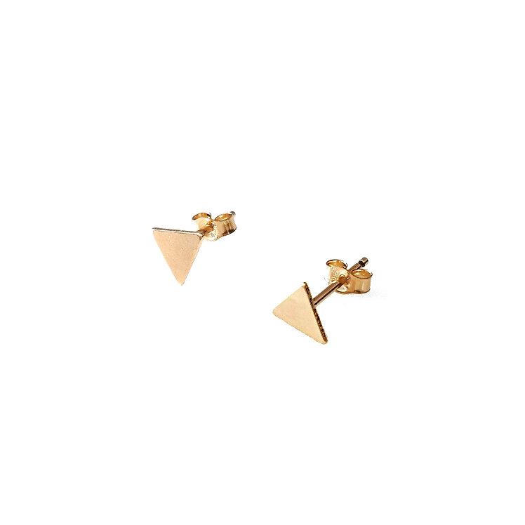 Tiny Triangle Stud Earrings
