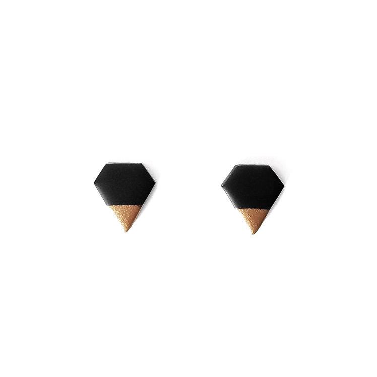 Black Diamond Dipped Studs
