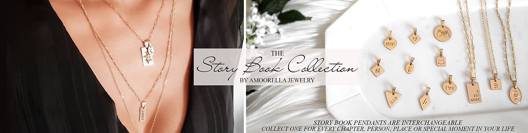 Story Book Necklace with Interchangeable Personalized Pendants