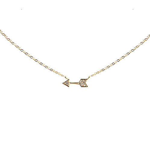 Tiny CZ Arrow Necklace