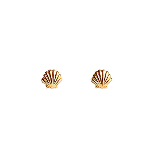 Tiny Seashell Studs