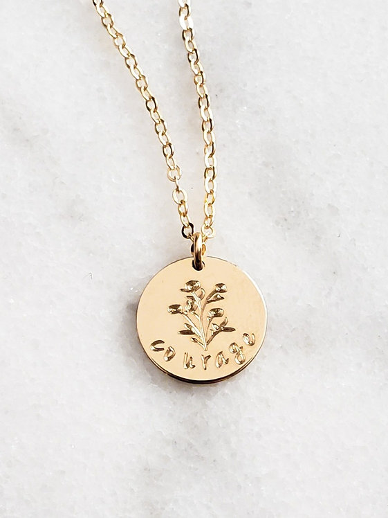 Courage Empowerment Necklace