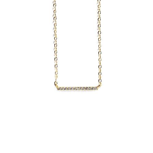 Dainty Bar CZ Necklace