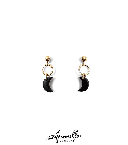 Aura Crescent Moon Earrings