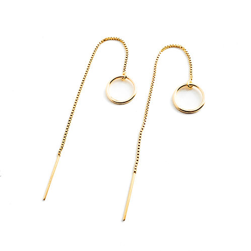 Halo Threader Earrings