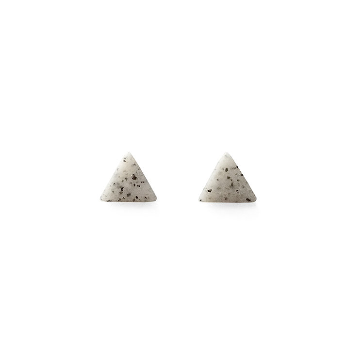 Granite Simply Matte Triangle Studs