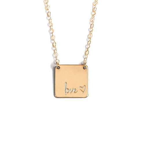 Personalized Square Necklace