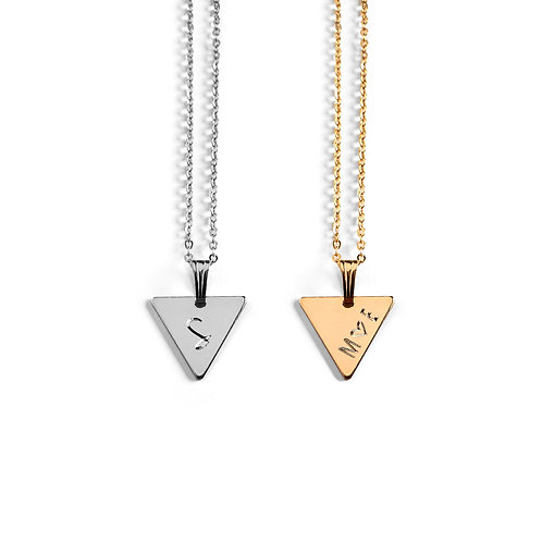 Triangle Story Book Necklace