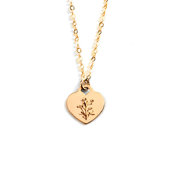 Wildflowers Heart Necklace