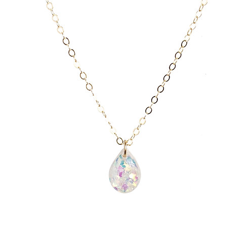 Opal Mermaid Teardrop Necklace
