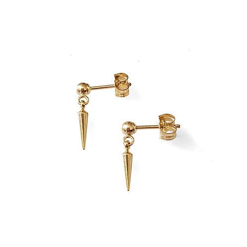 Tiny Spike Drop Earrings