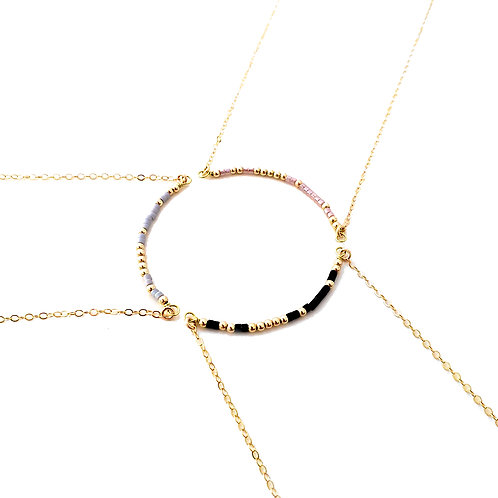 Friendship Circle Morse Code Necklace