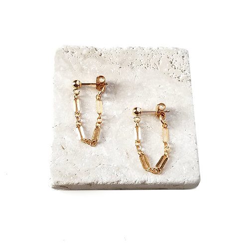 Leilani Chain Stud Earrings