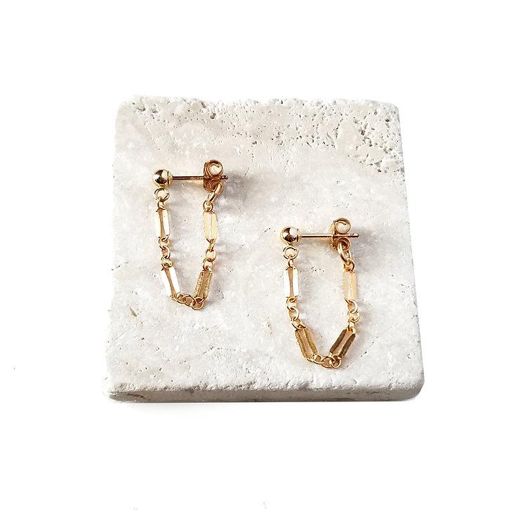 Leilani Chain Stud Earrings