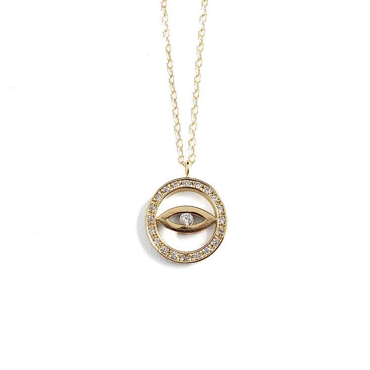 Evil Eye CZ Necklace