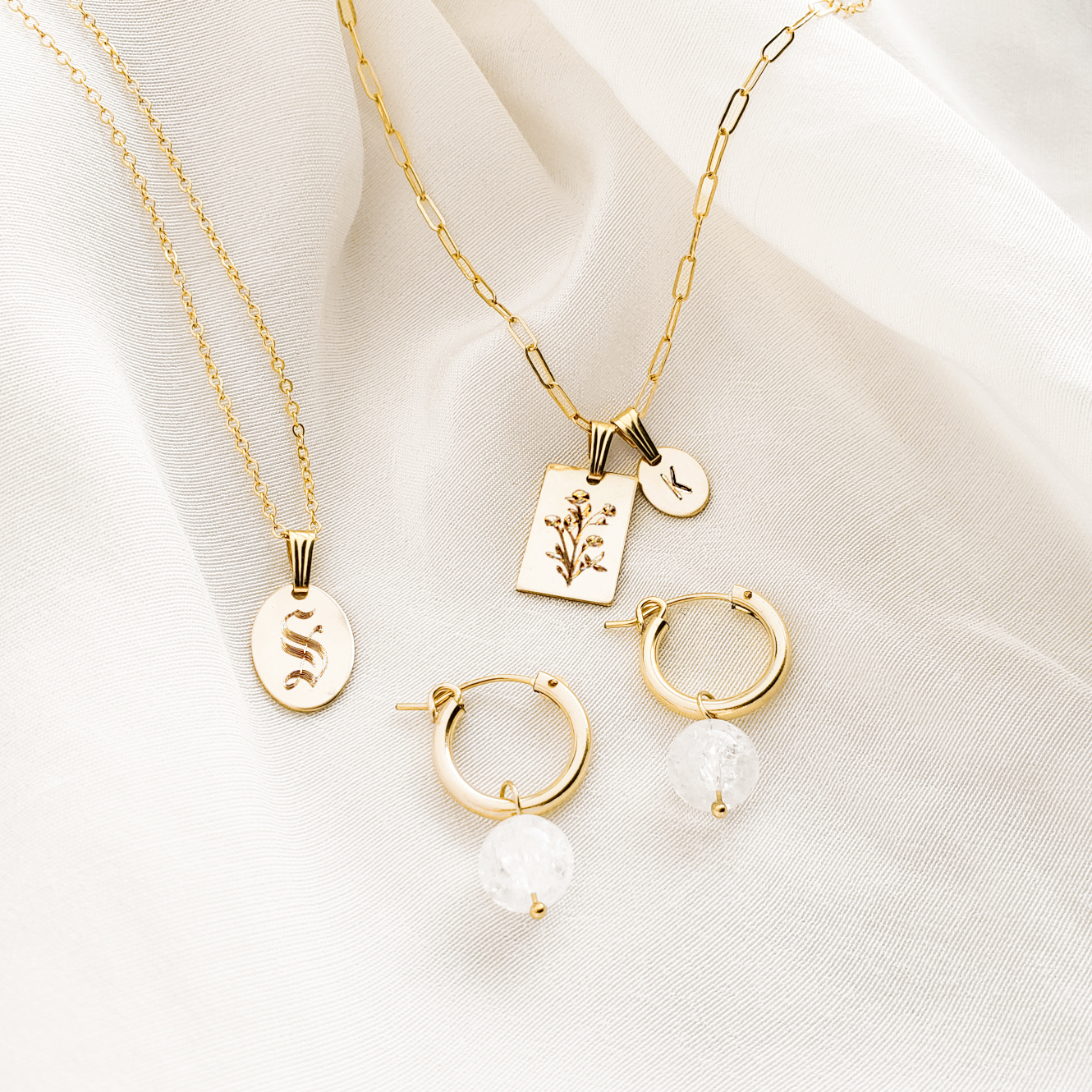 Personalized Oval Necklaces