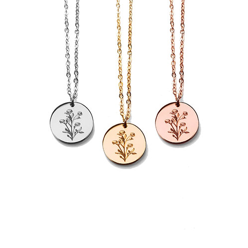 Wildflowers Disc Necklace