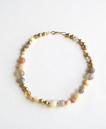 Mother of Pearl and gemstone necklace
