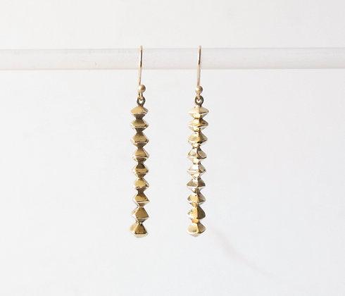 Infinity column long earrings