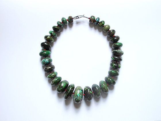 Bold turquoise statement necklace statement jewelry