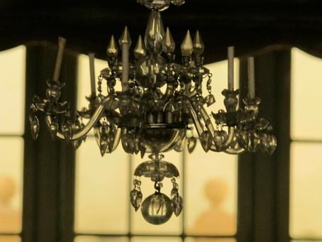 A miniature chandelier