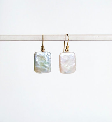 Unique Tennesee river pearl dangling earrings