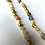 Thumbnail: Mother of pearl and mixed gemstone necklace