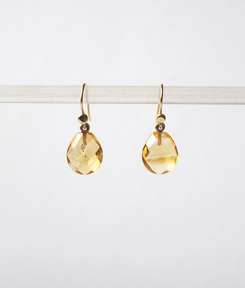 Faceted Citrine drops