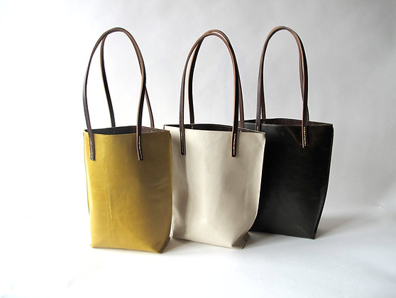 Tiny Tote every day bag hand made in leather