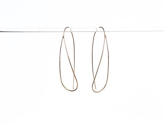 Long gold loops