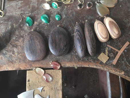 Carving and matching wood and stones
