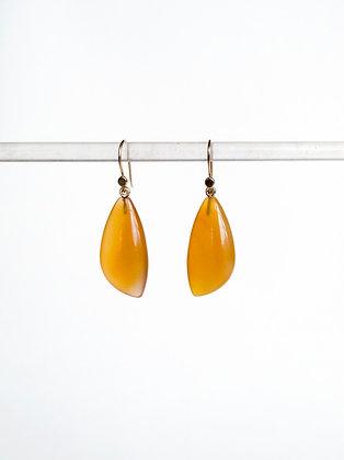 Carnelian drop earrings with 14k ear wires