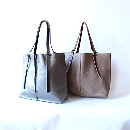 Alex tote hand made leather bag with adjustable straps