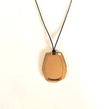Large simple tab pendant on nylon cord