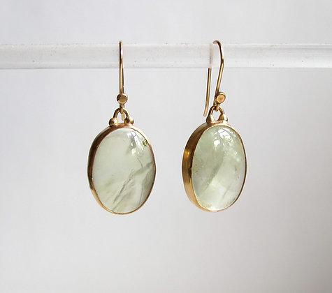 Phrenite cabachon earrings
