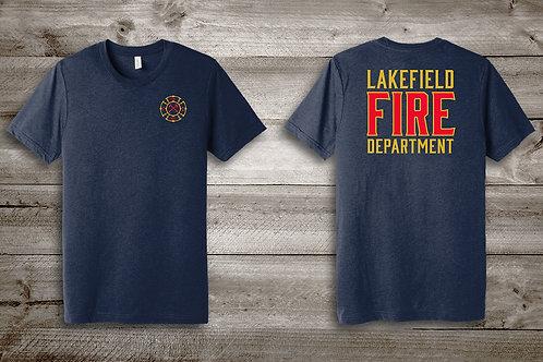 Lakefield Fire Department TriBlend Tee in Navy