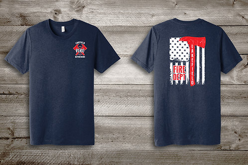 LFD Axes & Flag TriBlend Tee in Navy