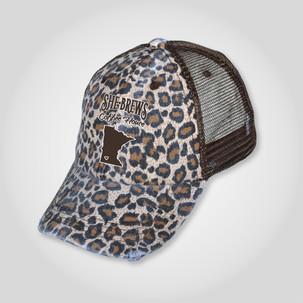 SheBrews leopard print hat