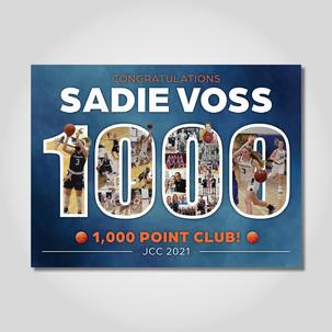 Sadie Voss 1,000 points banner