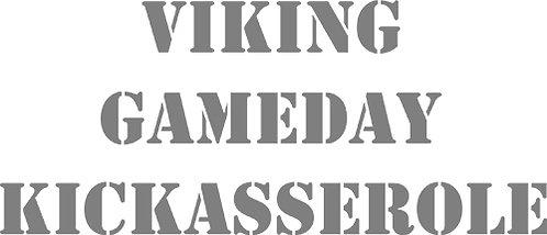 Customizable Cake Pan Design - Vikings Gameday Kickasserole