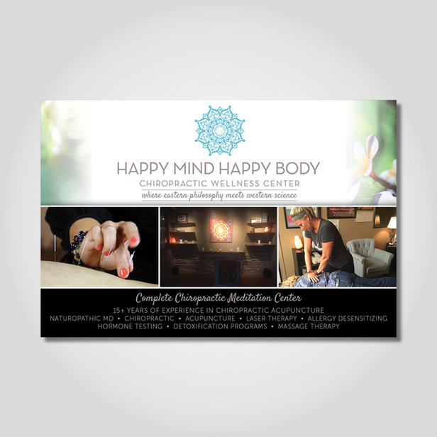 Happy Mind Happy Body large postcard