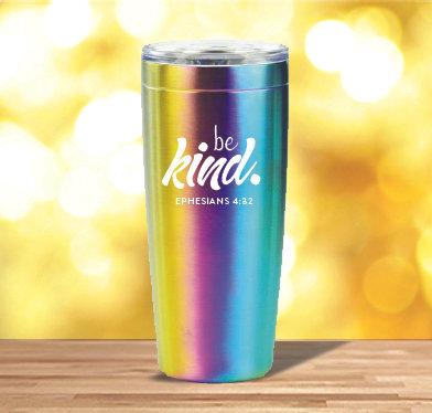 Be Kind 20 oz. Rainbow Tumbler