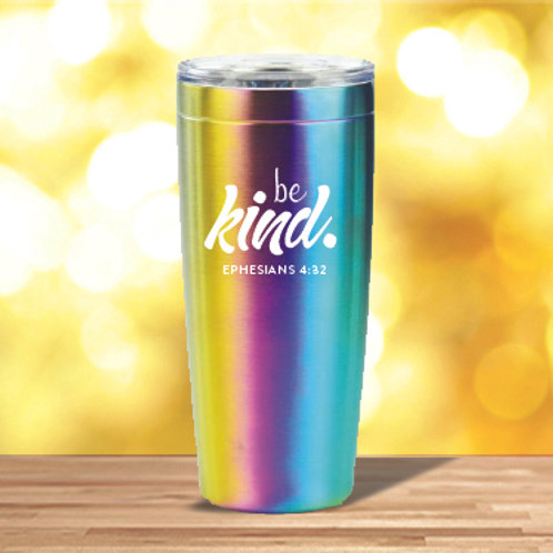 Be Kind 20 oz. Rainbow Tumbler