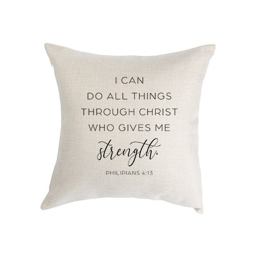 I Can Do All Things Pillow Cover