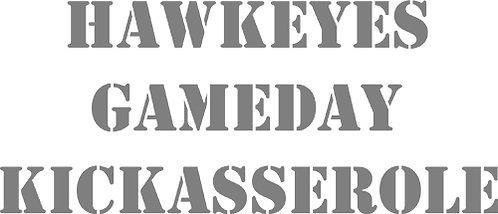 Customizable Cake Pan Design - Hawkeyes Gameday Kickasserole
