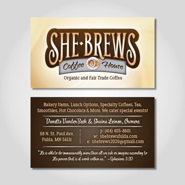 SheBrews business cards