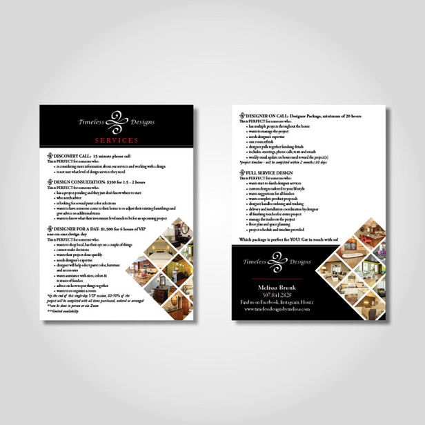 Timeless Designs services card