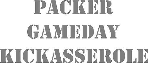Customizable Cake Pan Design - Packers Gameday Kickasserole