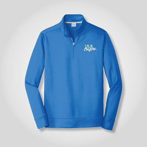 Cougars Performance Fleece 1/4-Zip Pullover Sweatshirt in Royal