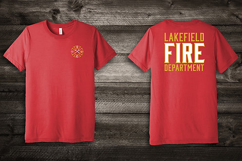 Lakefield Fire Department TriBlend Tee in Red
